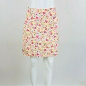 Lilly Pulitzer Floral Lady Bug Print Skirt